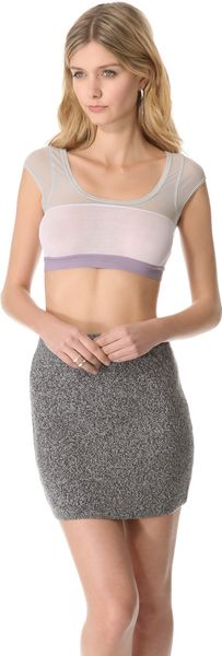 VPL Rib Cropper Top - Lyst