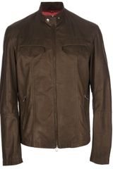 Brunello Cucinelli Leather Jacket - Lyst
