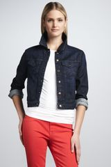 Christopher Blue Venice Slub Denim Jacket - Lyst