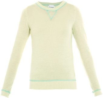 Crumpet Cashmere Overlocking Detail Sweater - Lyst