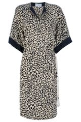 Gianfranco Ferre Vintage Leaf Print Dress - Lyst