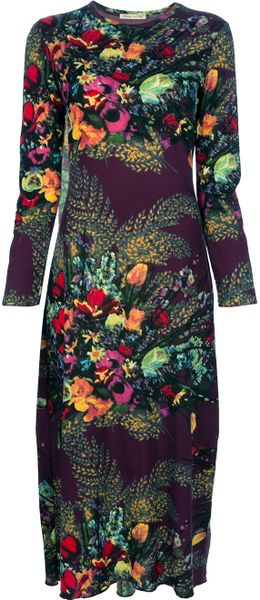 jean paul gaultier floral dress in floral lyst