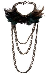 Lanvin Vault Feather Necklace - Lyst