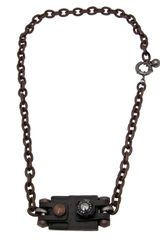 Lanvin Vault Leather Pendant Necklace - Lyst