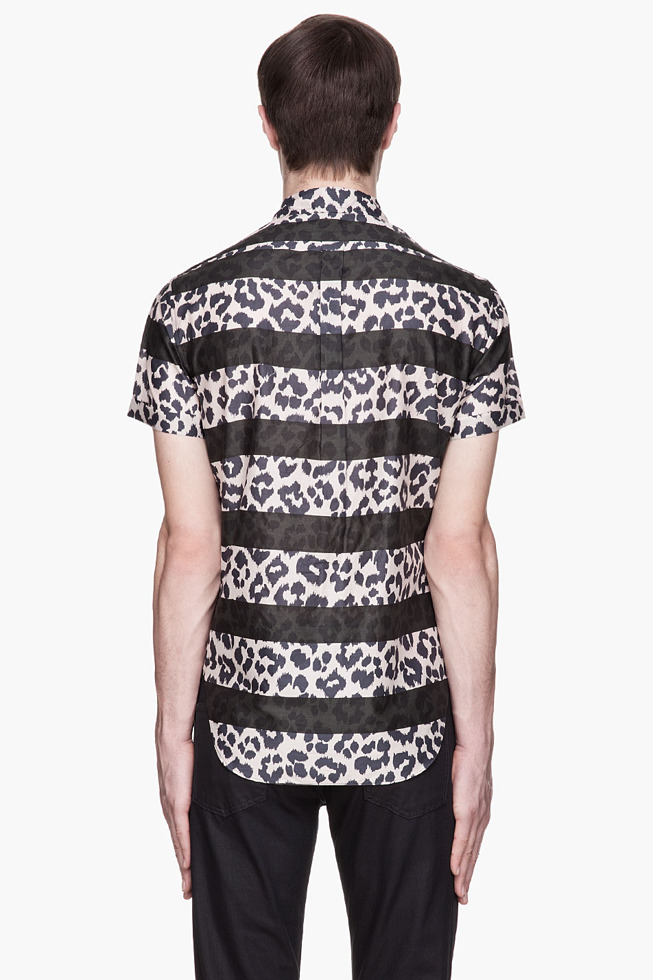 Lyst Marc By Marc Jacobs Striped Cheetah Print Shirt In