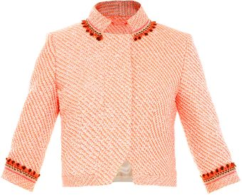 Matthew Williamson Nehru Collar Tweed Jacket - Lyst