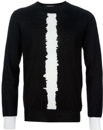 Neil Barrett Crew Neck Sweater - Lyst