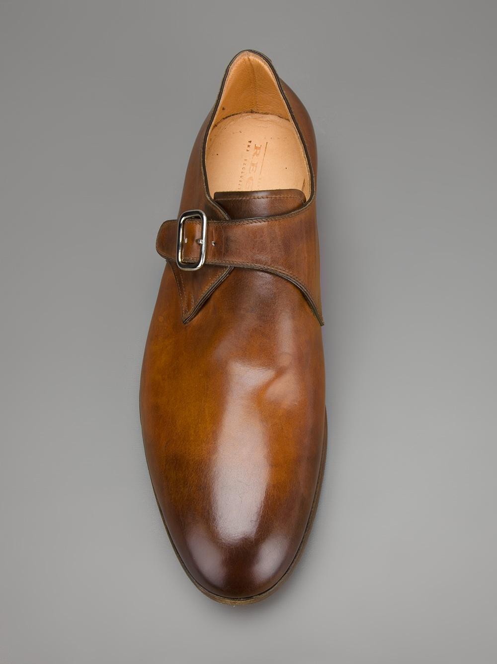 lyst regain monk strap shoe in brown for men