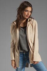 Soia & Kyo Perni Trench Jacket in Beige - Lyst