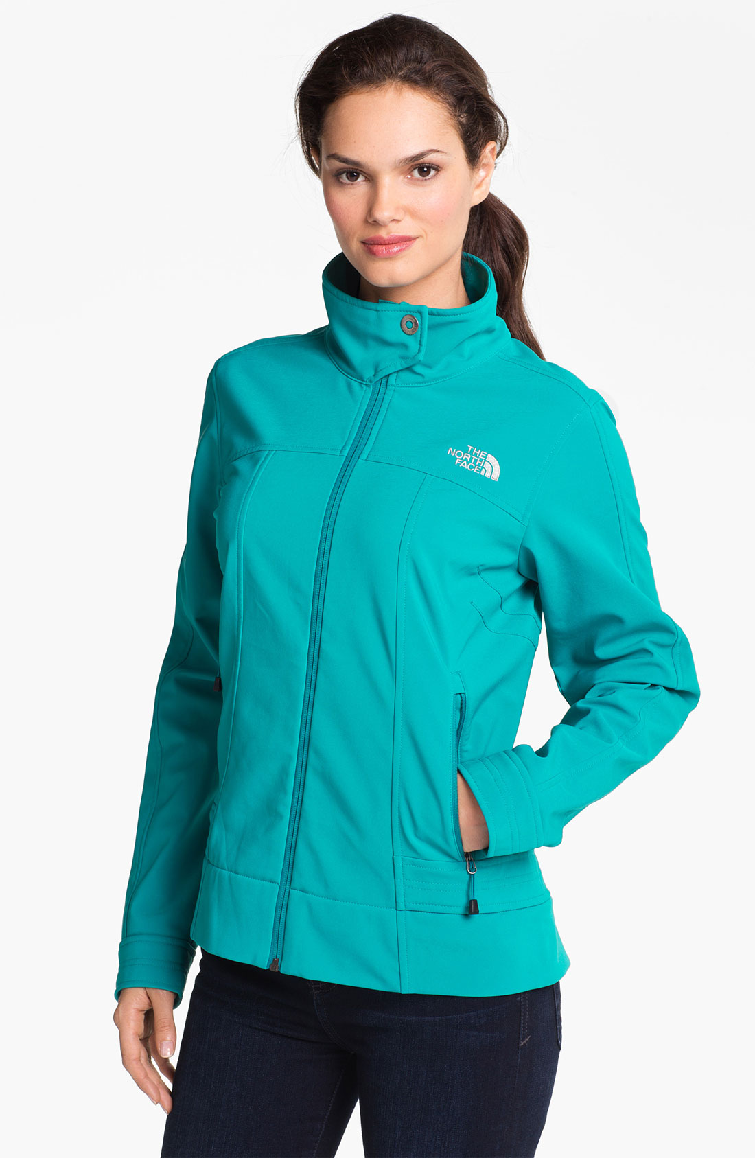 the north face calentito soft shell jacket in green end. Black Bedroom Furniture Sets. Home Design Ideas