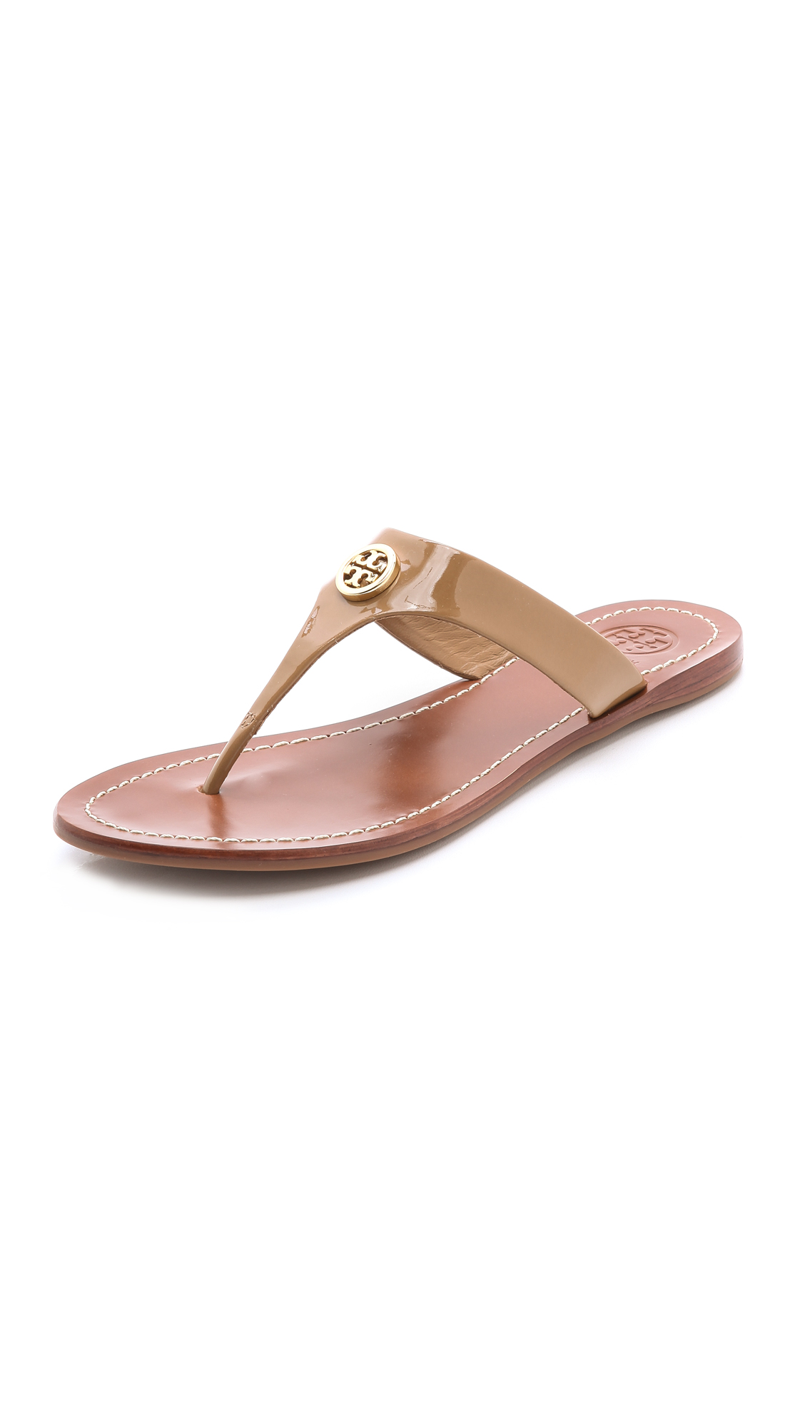 af64d66dda2c55 Lyst - Tory Burch Cameron Thong Sandals in Natural