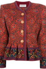 Yves Saint Laurent Vintage Needlepoint Jacket - Lyst