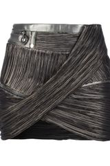 Anthony Vaccarello Pleated Fitted Skirt