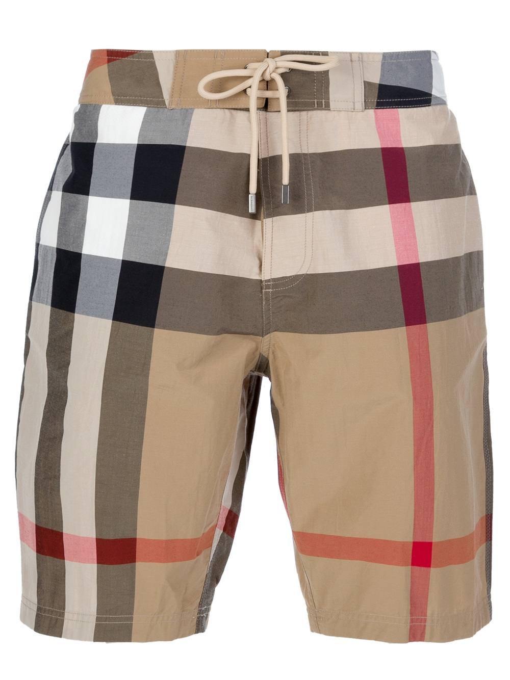 Burberry brit Checked Shorts in Beige for Men | Lyst