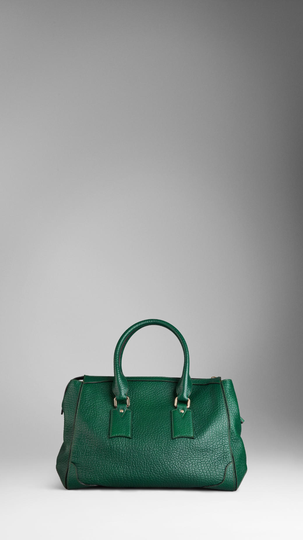 Grainy Leather Zip Pouch - Green Burberry ywc4O