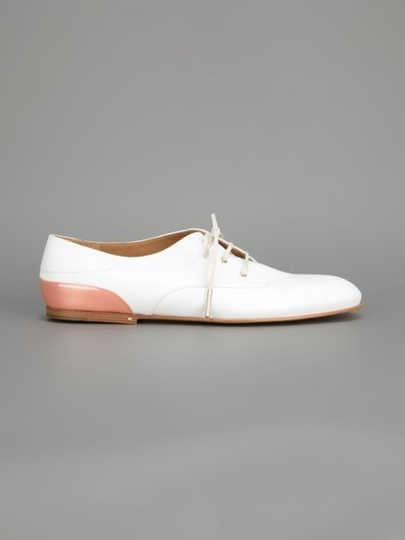 chlo 233 lace up oxford shoe in white lyst