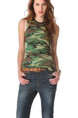 Edith A. Miller Crew Neck Camo Top - Lyst
