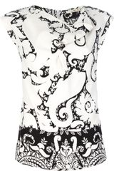 Etro Printed Silk Top - Lyst