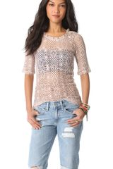Free People Geolace Top - Lyst