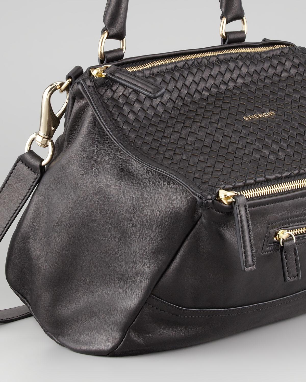 Lyst - Givenchy Pandora Medium Woventop Satchel Bag Black in Black b4fbd42d55f10