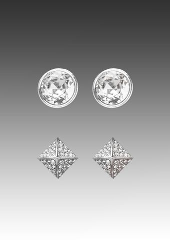 Juicy Couture Gemstone Stud Earrings in Crystal - Lyst