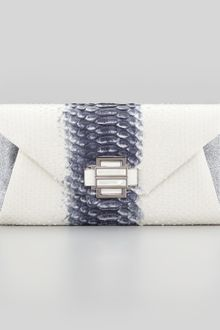 Kara Ross Electra Medium Python Clutch - Lyst