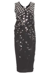 Lanvin Embellished Dress - Lyst