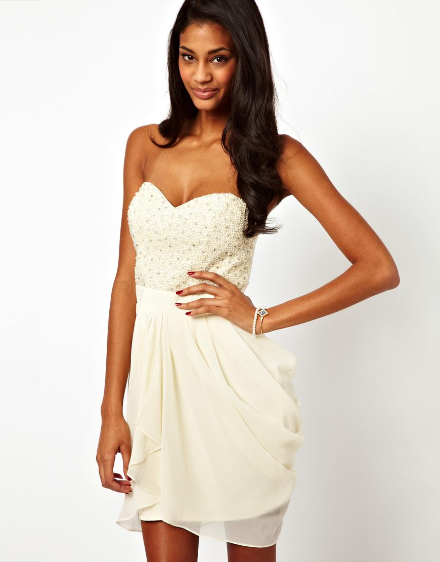Sequin Bust Dress