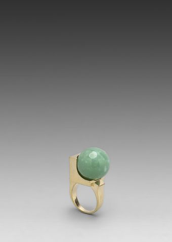Low Luv X Erin Wasson Cyrstalline Orb Ring in Green Alexandrite - Lyst