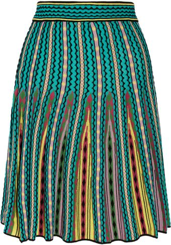 M Missoni Pleated Crochetknit Skirt - Lyst