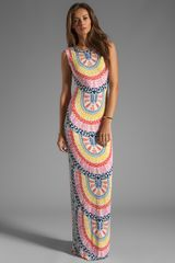 Mara Hoffman Printed Slit Column Dress in Medicine Wheel White - Lyst