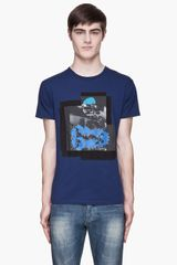 Marc By Marc Jacobs Blue Depths Neon Collage Print T-shirt - Lyst