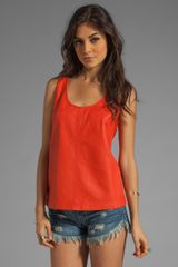 Marc By Marc Jacobs Jett Leather Top in Flamingo Red - Lyst