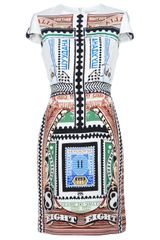 Mary Katrantzou Printed Shift Dress - Lyst