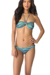 Matthew Williamson Escape Fleck Print Bandeau Bikini Set - Lyst