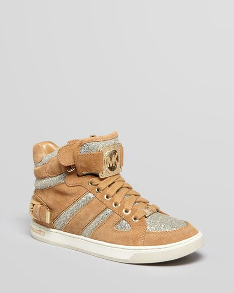 michael michael kors sneakers fulton high top in beige. Black Bedroom Furniture Sets. Home Design Ideas