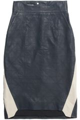 Preen Line Binary Washedleather Pencil Skirt - Lyst