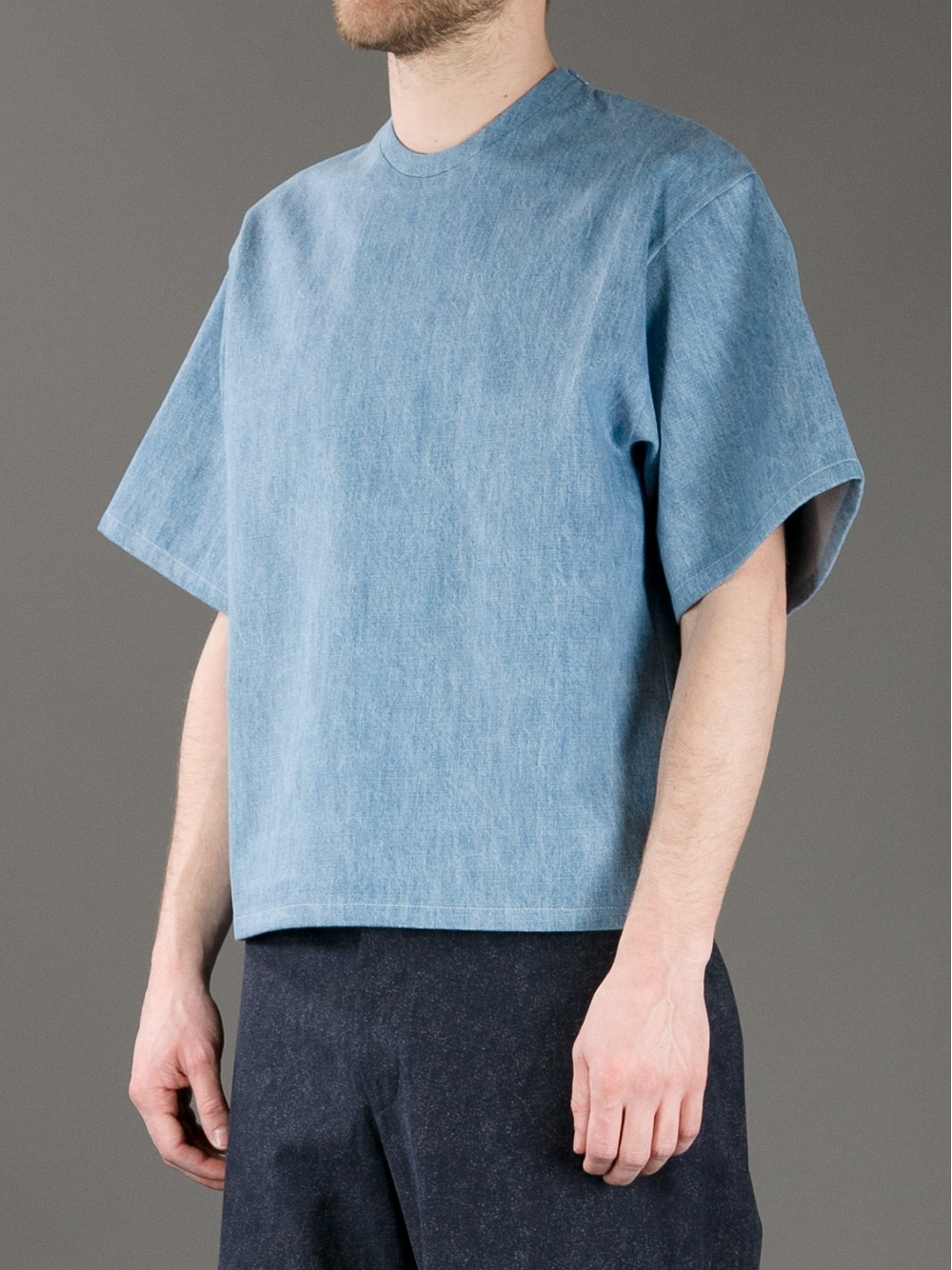 Qasimi Oversize Denim Tshirt In Blue For Men Lyst