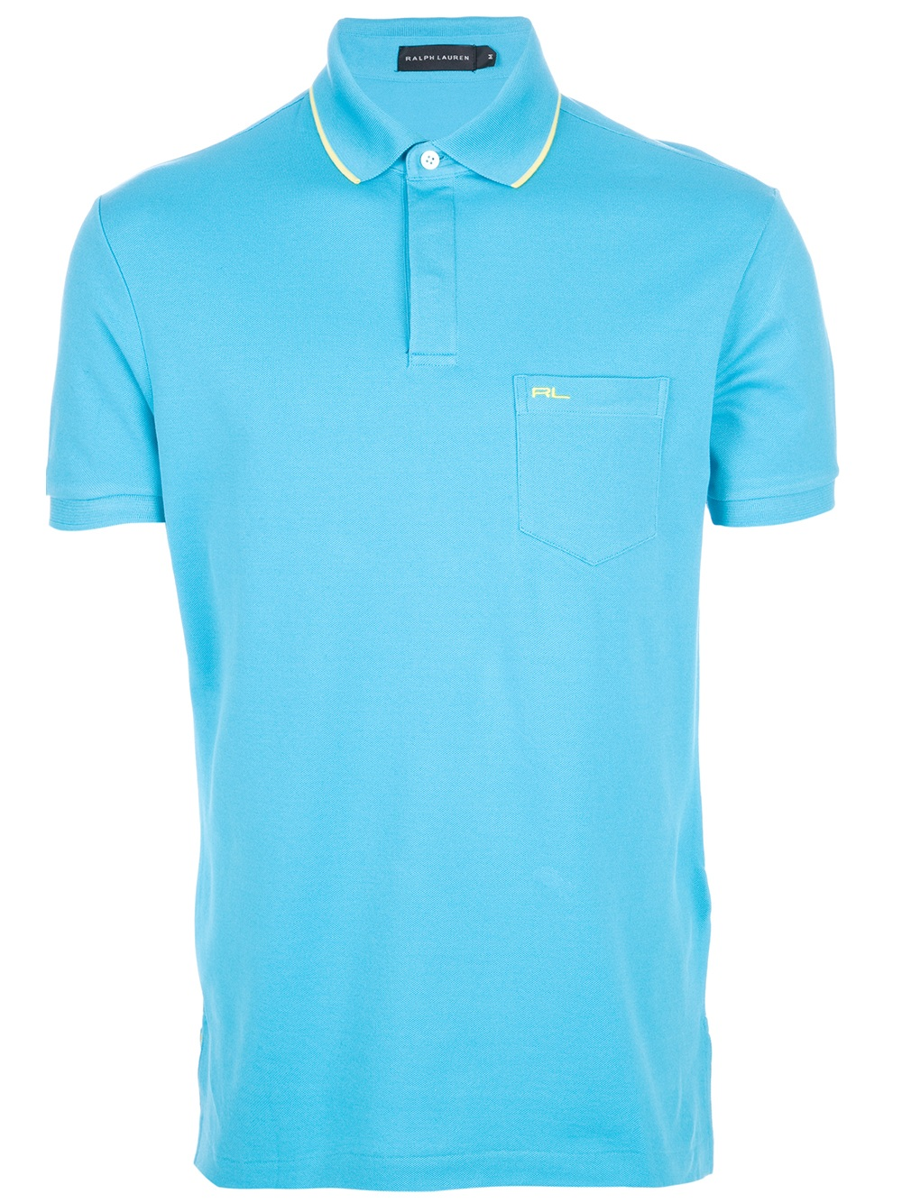 Ralph lauren black label logo polo shirt in blue for men for Ralph lauren logo shirt