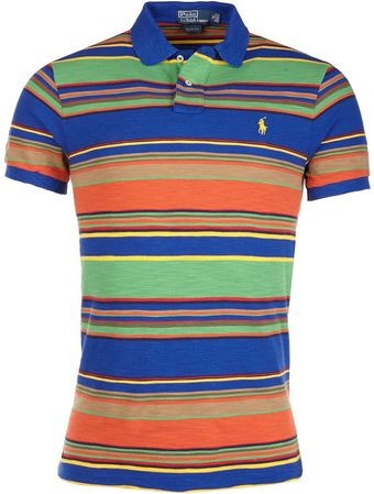 Ralph Lauren Striped Polo T-Shirt  - Lyst