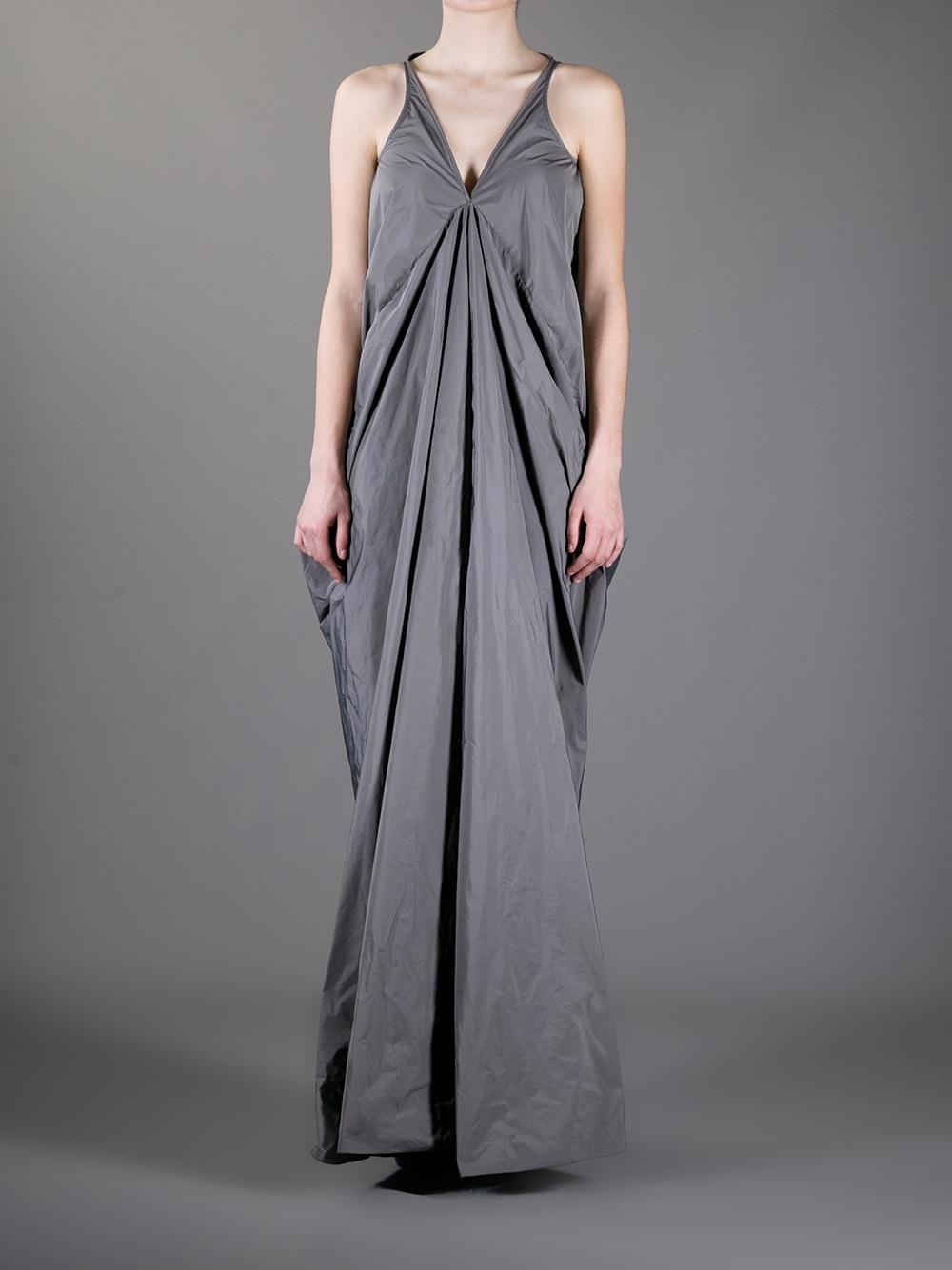 sleeveless maxi dress - Grey Rick Owens 36hyMi