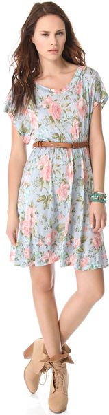Wildfox Grunge Rose Print Dress - Lyst