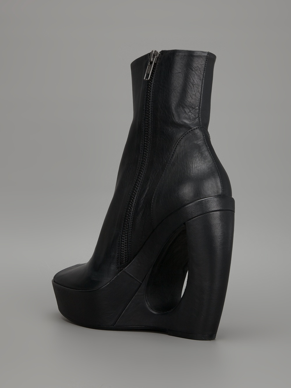 demeulemeester cut out wedge boot in black lyst