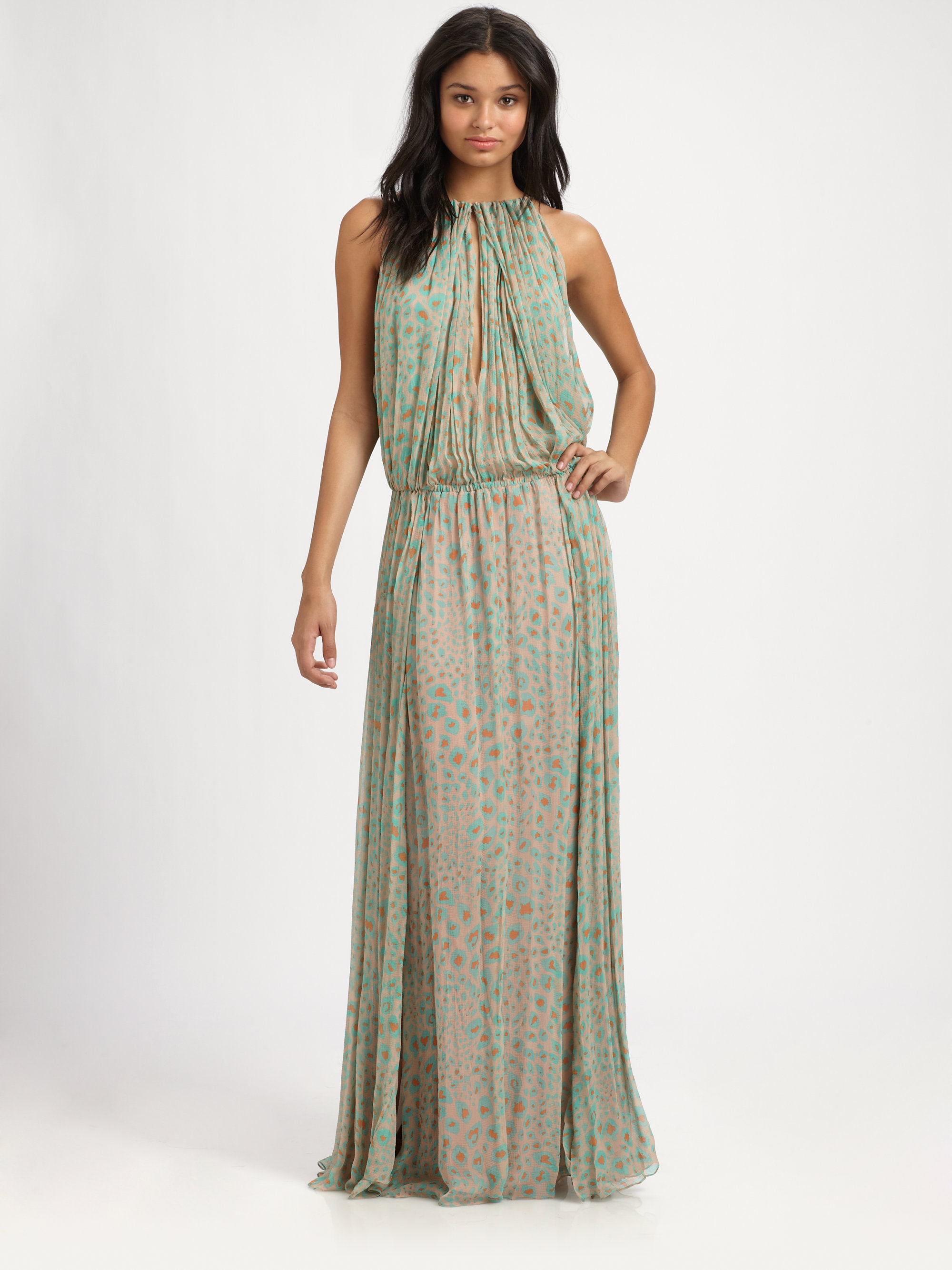 By malene birger Rebel Chic Long Silk Dress in Green  Lyst