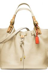 Coach Soft Legacy Dream Pebbled Leather Drawstring XL Shoulder Bag