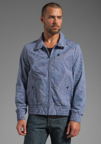 G-star Raw Fleet Jacket in Swedish Blue - Lyst