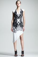 Helmut Helmut Lang Fishprint Asymmetric Dress - Lyst