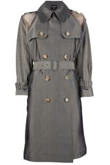 Jean Paul Gaultier Contrast Double Breasted Trench - Lyst