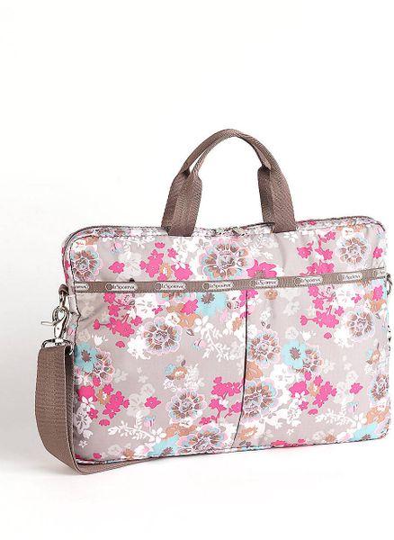 lesportsac endearing printed laptop bag in floral