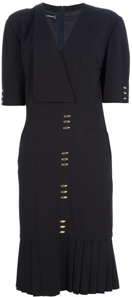 Louis Feraud Vintage Pleated Coat Dress - Lyst